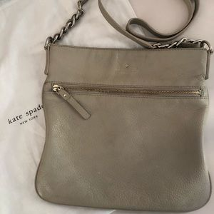 Kate Spade, taupe leather crossbody bag